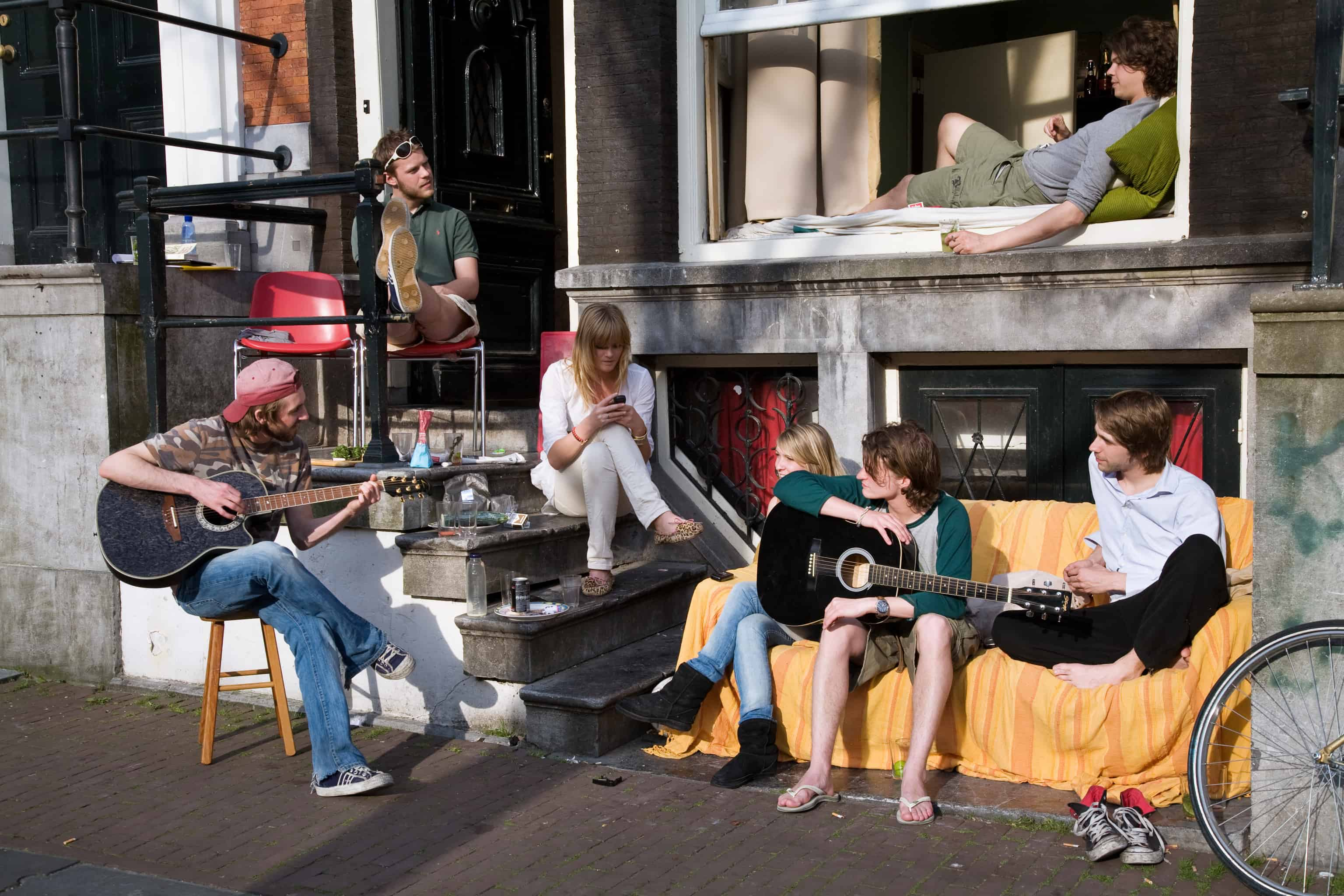 Young musicians in Amsterdam